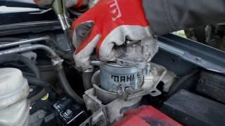 замена топливного фильтра Mitsubishi Pajero Sport 2.5 TD - паджеро спорт