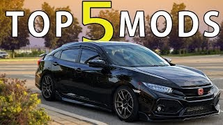 TOP 5 MODS | 2018 Honda Civic Si | 10th Gen Civic