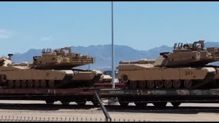 is usa preparing to invade los angeles ca thousands m1 abrams tanks m2 bradley apc heading to la