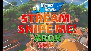🔴 Come Stream Snipe Me | Xbox One | Fortnite LIVE Stream | 355 + Wins