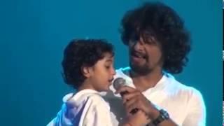 Sonu nigam's son singing