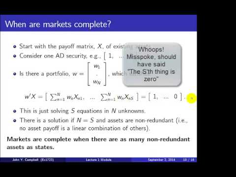 Economics 1723 Lecture 1 Module
