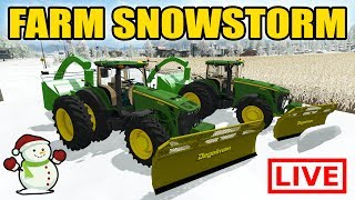 FARMING SIMULATOR 2017 | CLEARING THE FARM WITH DOZER BLADES AND SNOWBLOWERS | MULTIPLAYER | LIVE