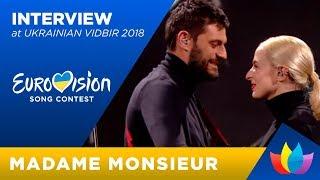 Interview Madame Monsieur   Eurovision 2018 France [ENGLISH]