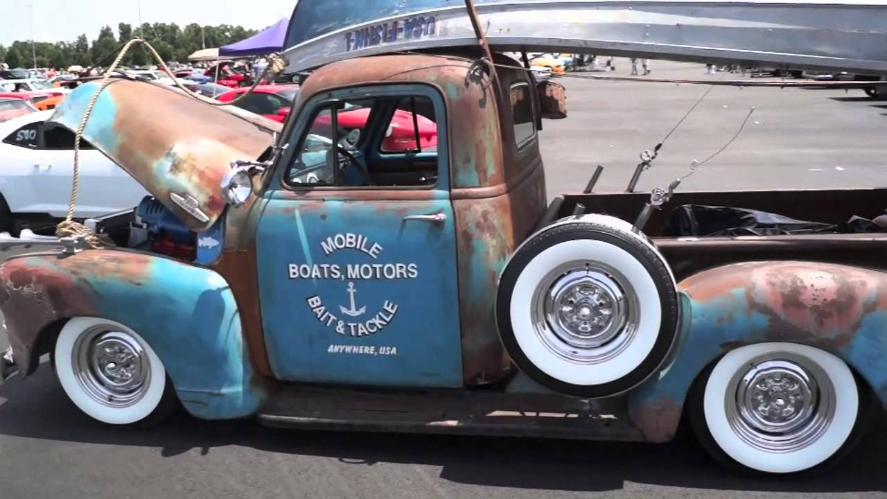 Rat Rod PickUp Truck from HOT ROD Power Tour 2014 - YouTube