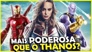 "CONFIRMADO! A Capitã Marvel pode ""MOVER PLANETAS"""