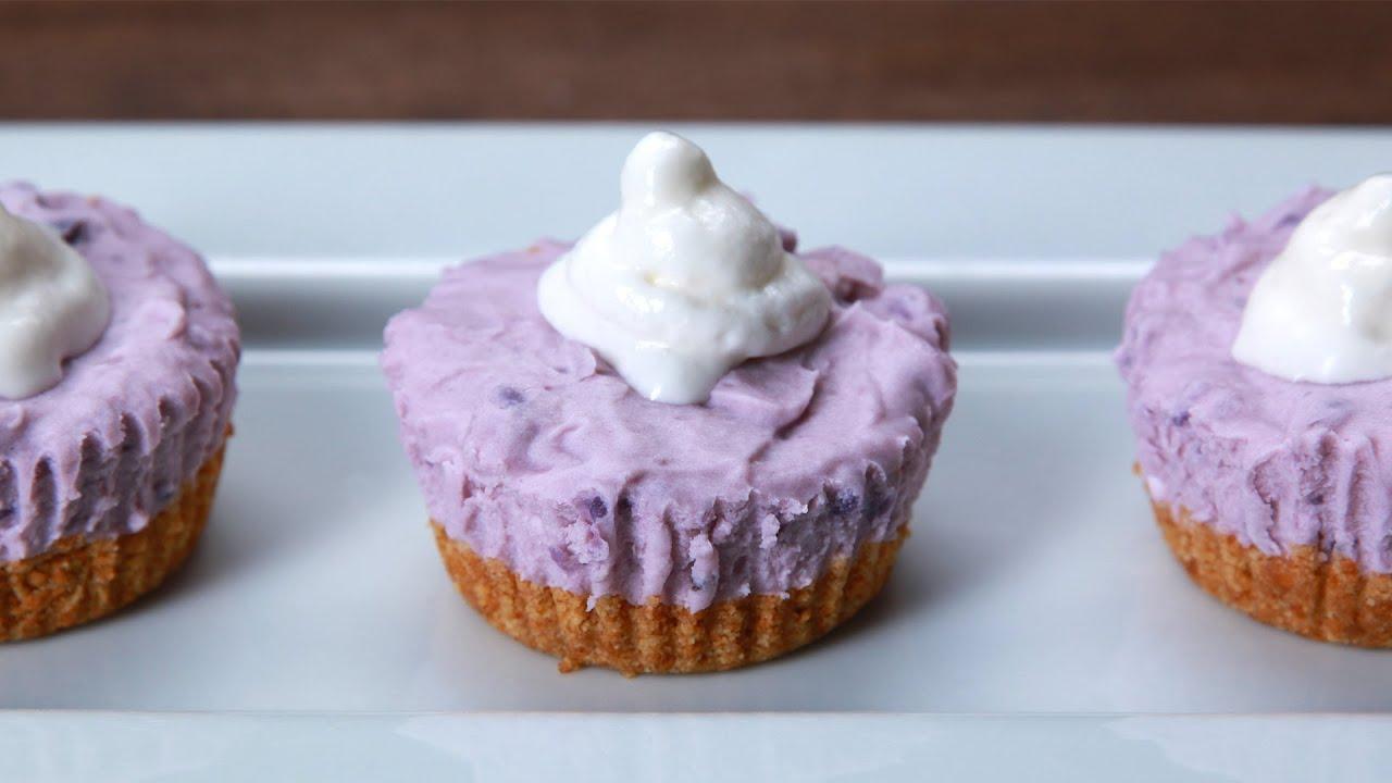 Mini No Bake Ube Cheesecakes YouTube