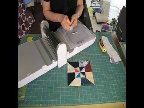 2010-04 Layered Pinwheel Quilt Block using Accuquilt GO cutter