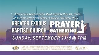 September Prayer Gathering - Greater Exodus Baptist Church in Philadelphia Metro Area