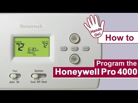 How To Program A Honeywell Pro 4000 Thermostat Doovi