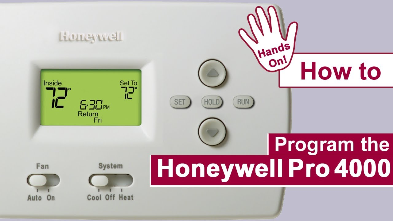 How To Program The Honeywell Pro 4000 Thermostat Youtube