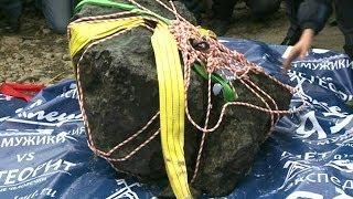 Rusya'ya düşen meteorun kalıntıları çıkarıldı