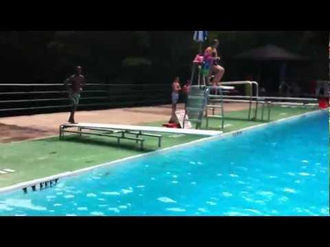 SBU U12 player Aly Diving at Bear Mountain