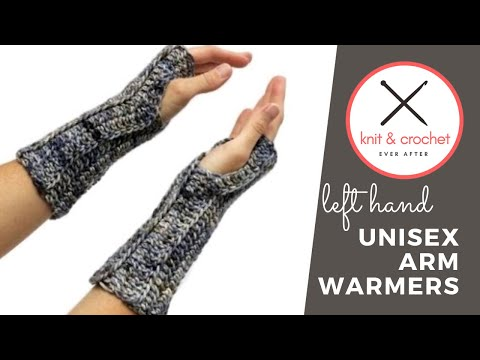 Left Hand Unisex Arm Warmer Free Pattern Workshop Youtube