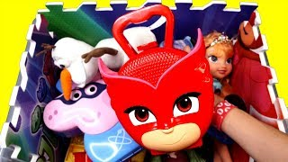 Learn Characters and Street Vehicles with Pj Masks, Peppa Pig Trolls Toys for Kids and Children