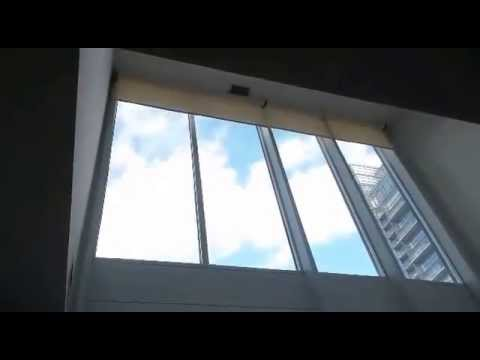 Condo Blinds Installs Motorized Blinds in 18' Ceiling Toronto Condo