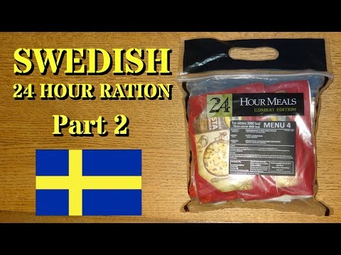 Ration Review: Swedish 24 HR Freeze-Dried Ration Part 2 (Lunch and Dinner)