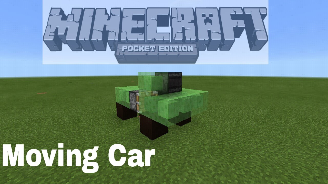 How to make a moving car easy in Minecraft pe