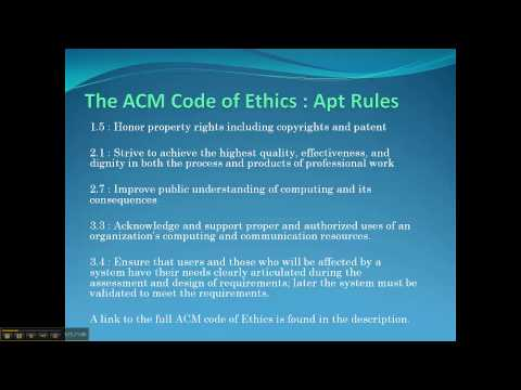 Ethical Discussion - The Free Software Movement vs ACMs Code of Ethics