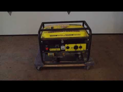Champion Generator Review--Model No. 46514; 3500/4000w (peak)