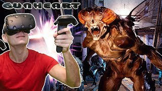 FIRST TPCAST WIRELESS VR GAMEPLAY! | Gunheart VR on HTC Vive in Co-Op Multiplayer
