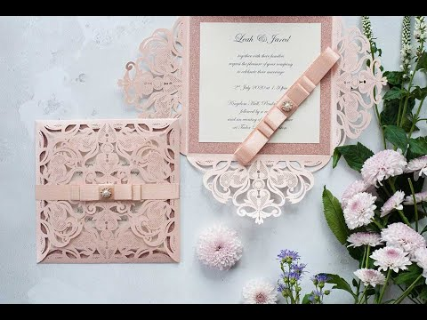 Blush Pink Wedding Invitations How To Make Easy Diy Wedding Invitations