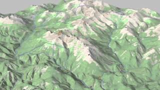 Виртуальная модель местности на основе топографической карты