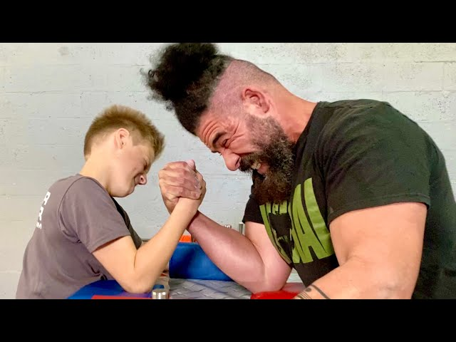 10 Year Old Kid VS Whole Gym of Armwrestlers