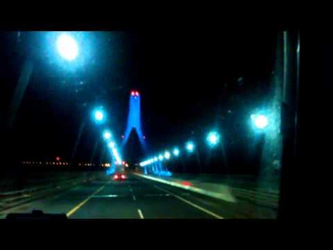 Drogheda bridge at night