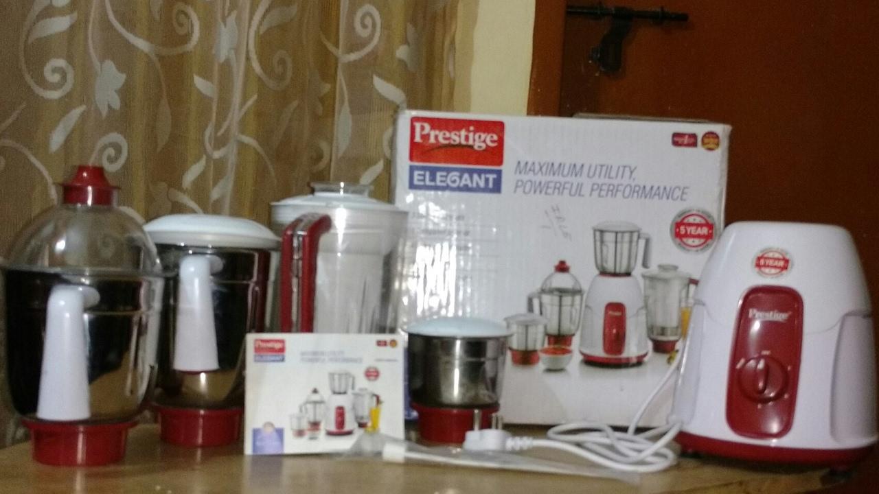 726c935de73 Prestige Elegant 750-Watt Mixer Grinder with 4 Jars (Red) - YouTube