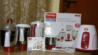 Prestige Elegant 750-Watt Mixer Grinder with 4 Jars (Red)
