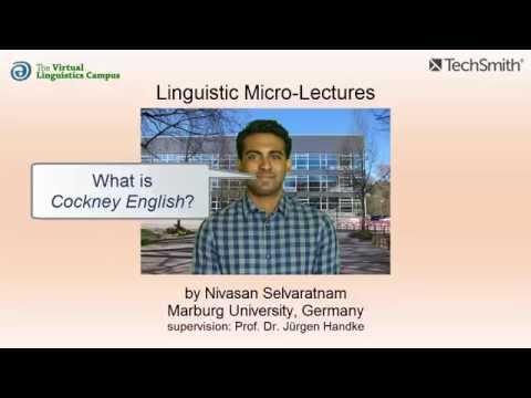 Cockney (English Accent) ☆ Linguistics Lecture