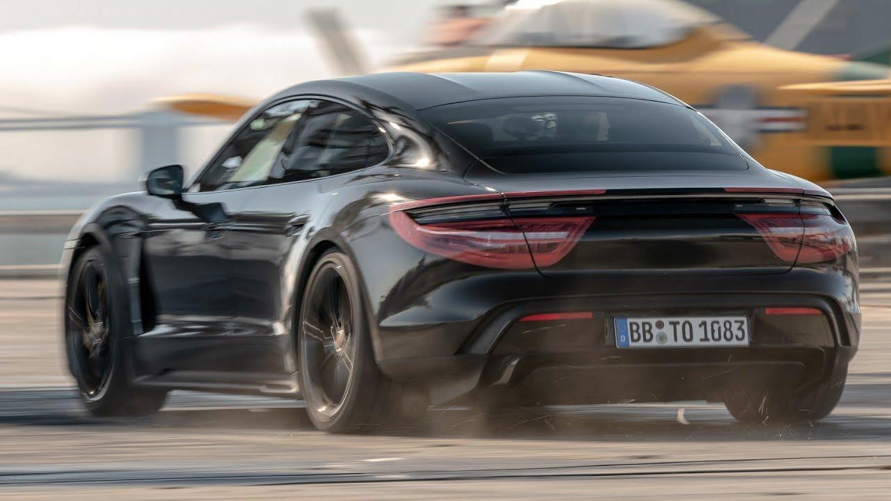 2020 Porsche Taycan does 0,90,0 mph on USS Hornet