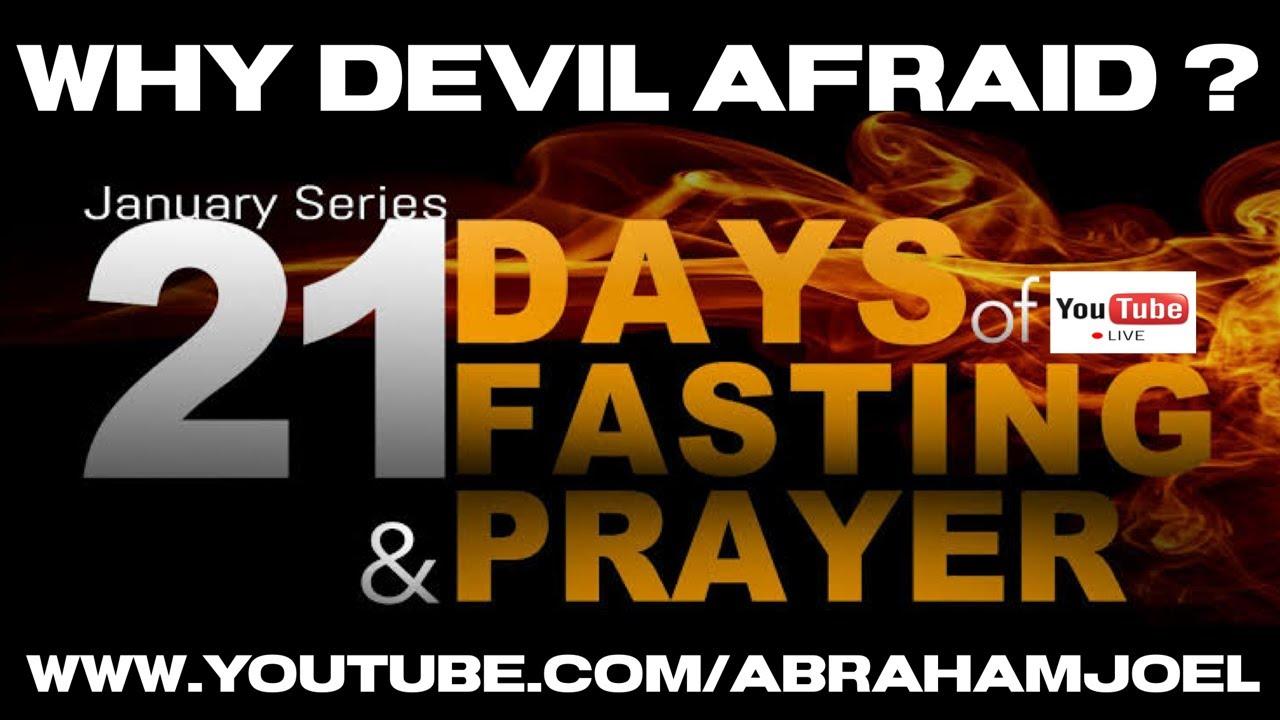 LIVE DAY 1 : 10.1.21 WHY DEVIL AFRAID WHEN YOU FASTING ?  #21DAYSPRAYERANDFASTING // ABRAHAM JOEL