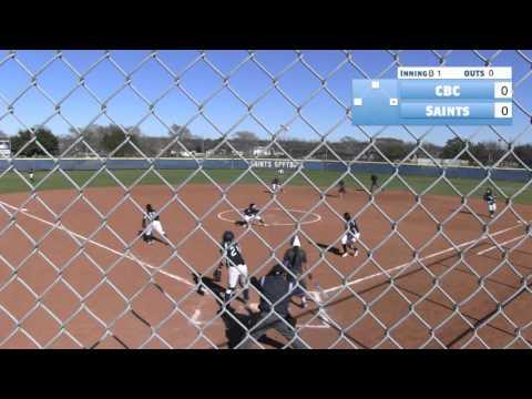 OLLU Softball vs. Coastal Bend College (2-6-16) Game 2