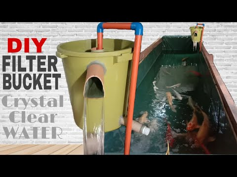 HOW TO MAKE DIY MEGA POND FILTER | CRYSTAL CLEAR WATER | FILTER BUCKET