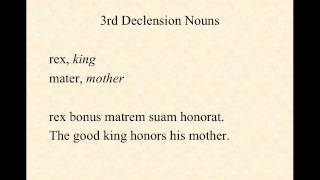 3rd Declension Nouns in Latin