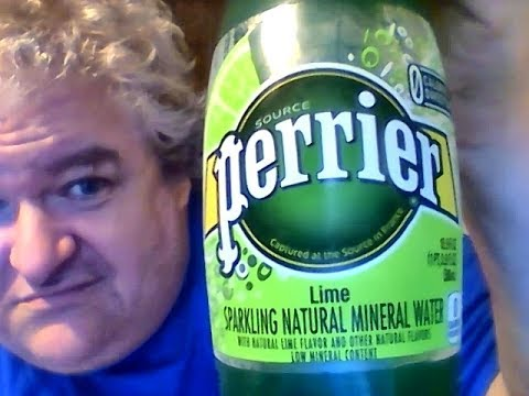 Lime Perrier Sparkling Mineral Water (France)