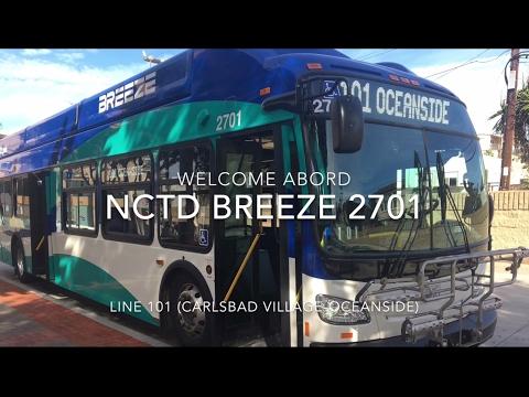 NCTD BREEZE 2016 New Flyer XN40 #2701 | Coin Lloyd's Transit Hub
