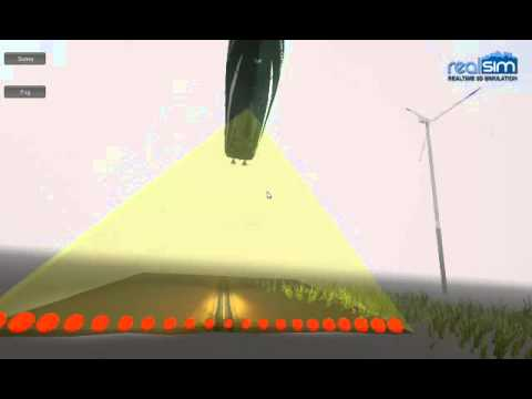 Multibeam echosounder simulation
