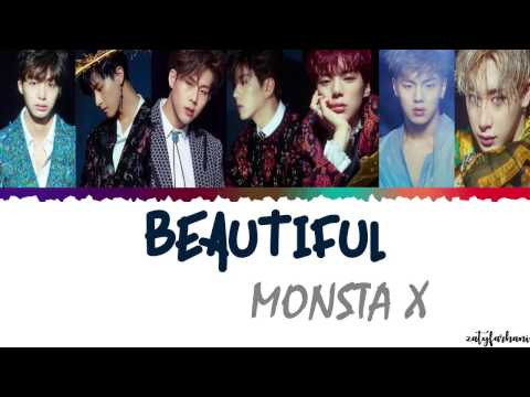 MONSTA X몬스타엑스 - BEAUTIFUL 아름다워  Color CodedHanRomEng