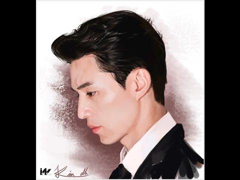 [디지털페인팅] 배우 이동욱 그리기 Korean actor Lee dongwook painting