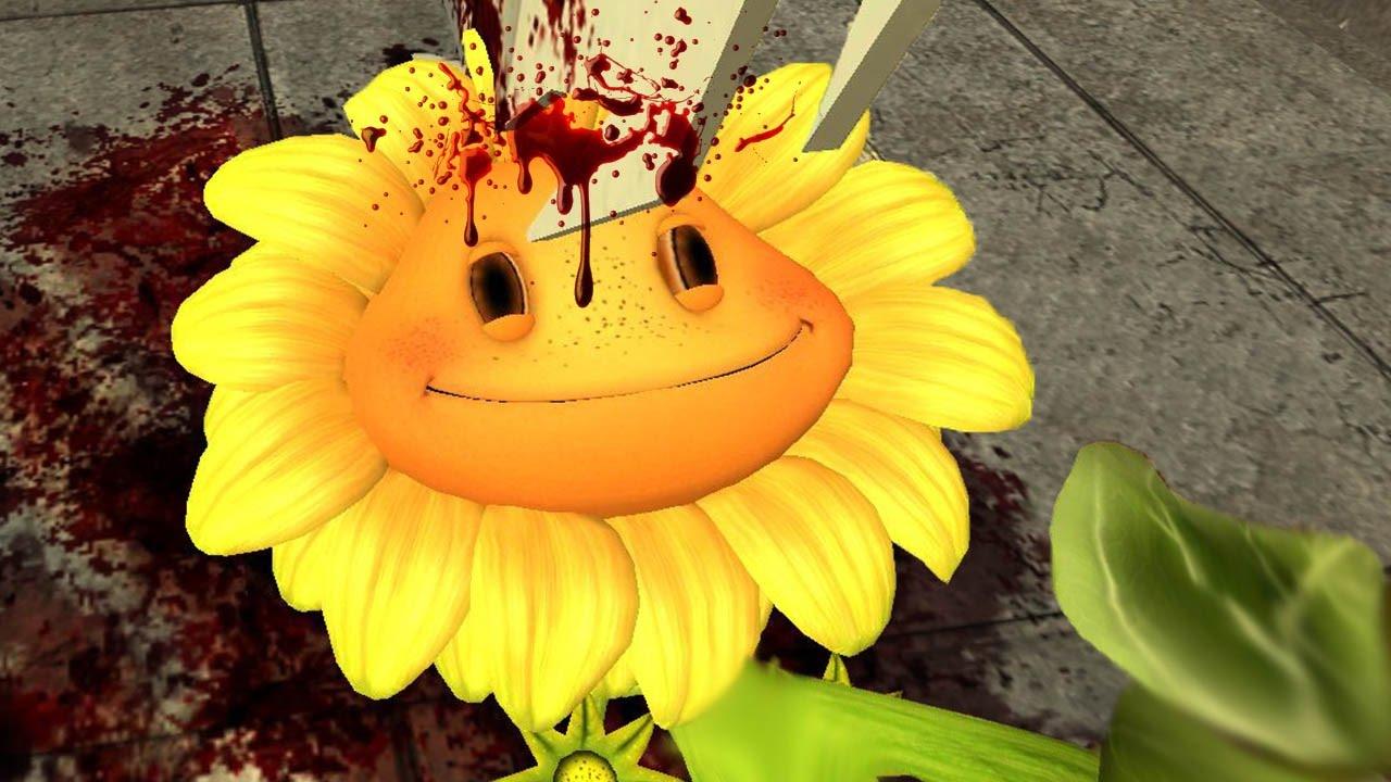 I KILLED PvZ SUNFLOWER   Gmod Sandbox
