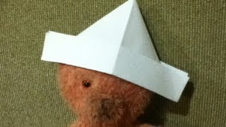 How to Make a Paper Hat - Origami - Simple and Easy Folds - Step by Step Instructions