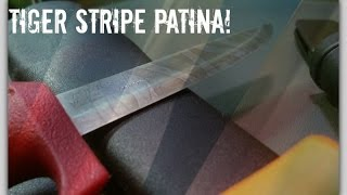How To Force A Tiger Stripe Patina On A Carbon Steel Blade