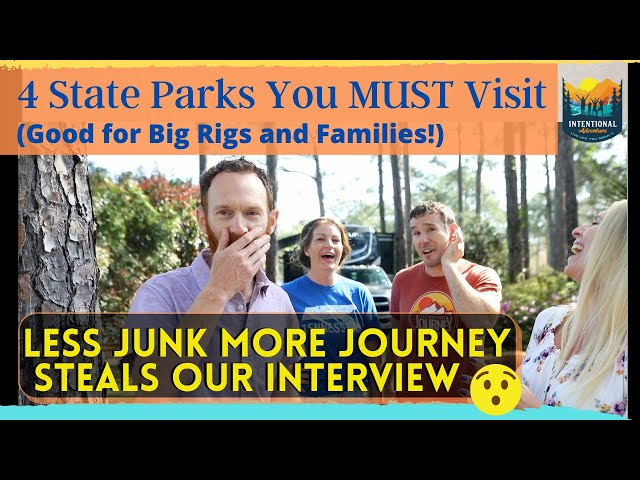 4 State Parks you HAVE to visit! | Less Junk Steals Our Interview! | RV Travels