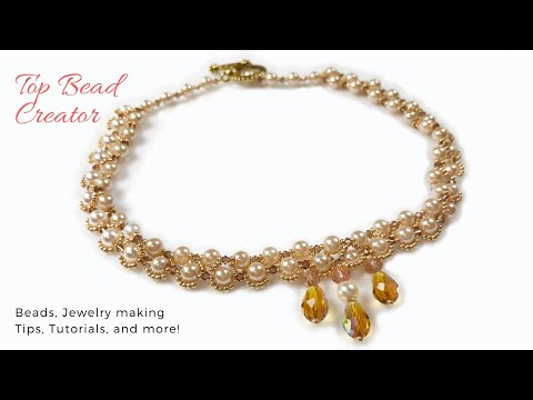 DIY Elegant Pearl Necklace, Handmade Jewelry Tutorial, How to make beaded Necklace.