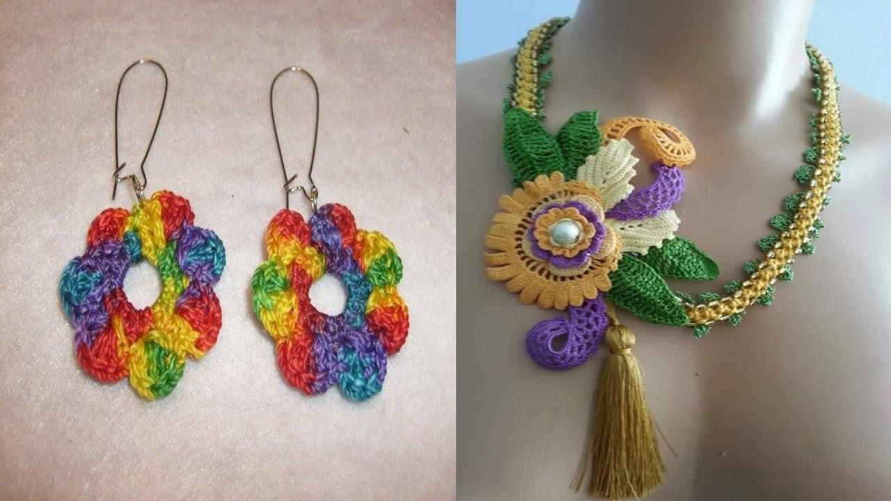 Hermosas novedades collares y aretes tejidos a crochet n for Tejidos y novedades paredes