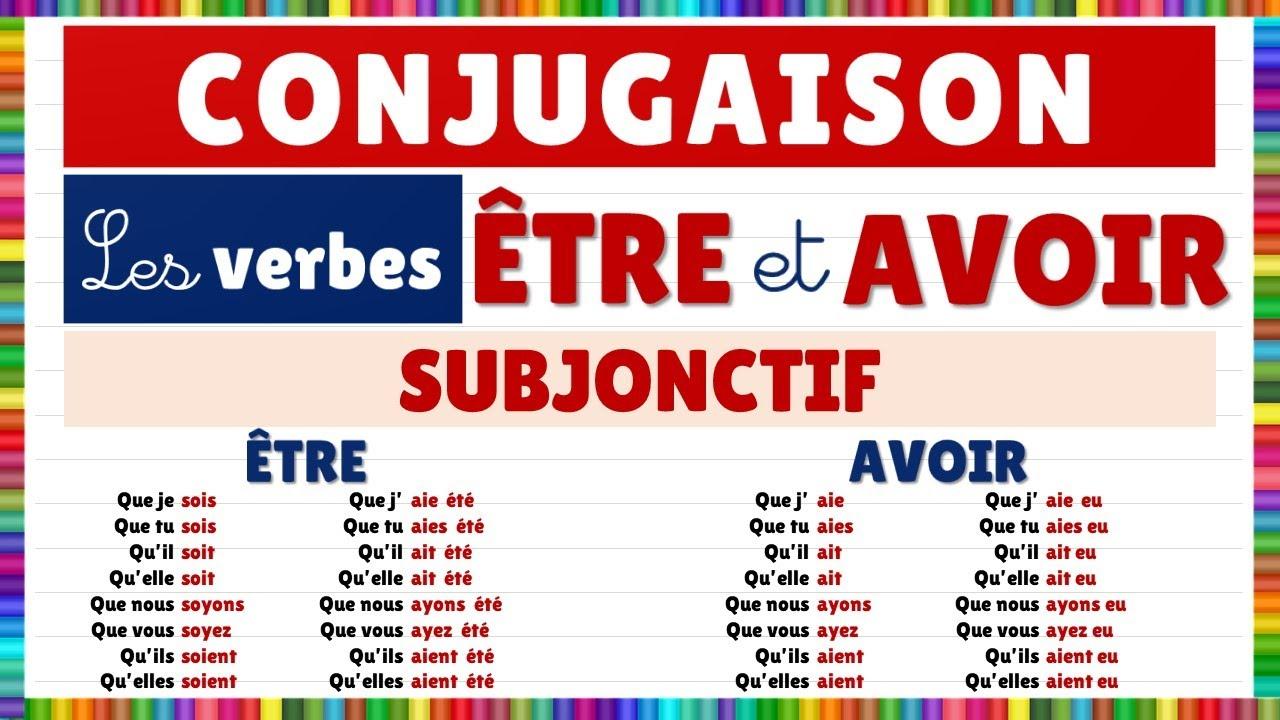 Conjugaison Les Verbes Etre Et Avoir Au Subjonctif Youtube
