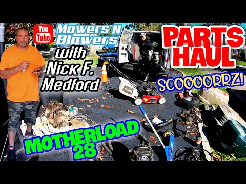 MOTHERLOAD 28 FREE LAWN TRACTOR ENGINE PARTS TOOLS EQUIPMENT GARBAGE HAUL PICK W/NICK FROM MEDFORD